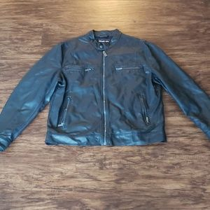 Mens black Michael Kors leather jacket